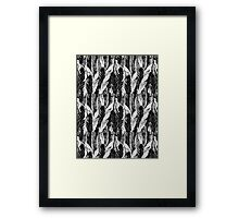 Pattern graphic bird feathers Framed Print