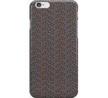 White and Red Spider Web Pattern Design iPhone Case/Skin