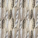 Pattern graphic bird feathers by Tanor