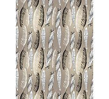 Pattern graphic bird feathers Photographic Print