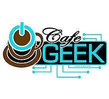CAFE GEEK - Title Logo Photographic Print