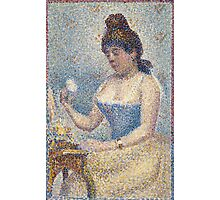 Georges Seurat  - Young Woman Powdering Herself 1889 Photographic Print
