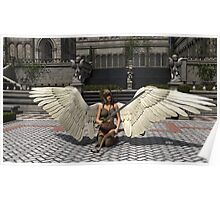 angel with bow and sword Poster
