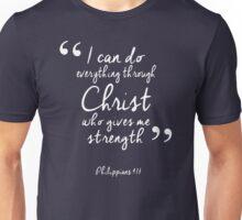 Philippians 4:13 Bible Quote Print Unisex T-Shirt