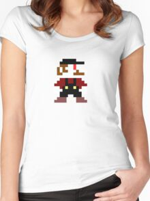 Mario... (From the Super Mario franchise) Women's Fitted Scoop T-Shirt