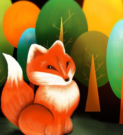Russian Red Fox Sticker
