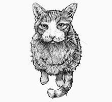 Expectant Orange Tabby Cat Mens V-Neck T-Shirt