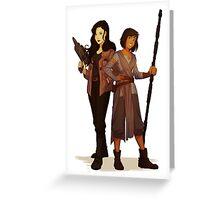 Korrasami Star Wars Crossover Greeting Card