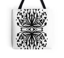 Black and white abstract india ink painting minimalism boho urban monochromatic ink c art  Tote Bag