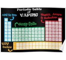 Vape Design Periodic Table of Vaping Poster