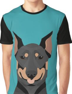 Doberman Pinscher cute pet portrait customizable dog gift for doberman owner pet portrait Graphic T-Shirt