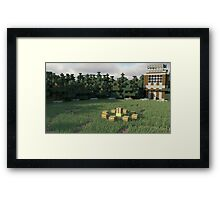 Survival Games - The Forest Framed Print