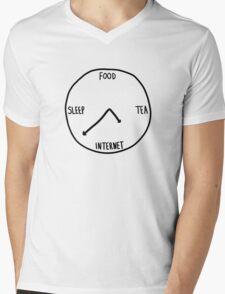 HIPSTER BODY CLOCK Mens V-Neck T-Shirt