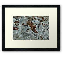 blue clay geology Framed Print