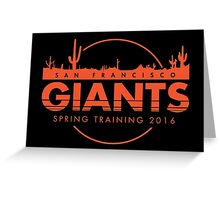 San Francisco Spring Training  Greeting Card
