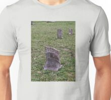 "'""THE CEMETERY, a Series', No. 6, Broken Stone""... prints and products Unisex T-Shirt"