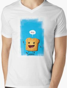 Hey, Toast! Mens V-Neck T-Shirt