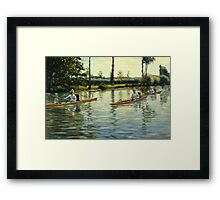 Gustave Caillebotte - Boating on the Yerres Perissoires sur l Yerres 1877 Framed Print