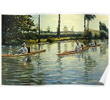 Gustave Caillebotte - Boating on the Yerres Perissoires sur l Yerres 1877 Poster