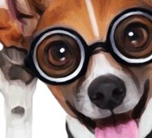 Dog Wearing Glasses 1 Sticker