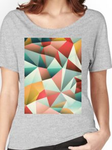 Modern Abstract Geometric Pattern Women's Relaxed Fit T-Shirt