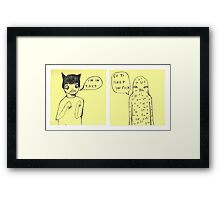 Go to Sleep Framed Print