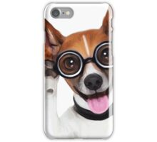 Dog Wearing Glasses 2 iPhone Case/Skin