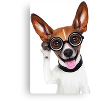 Dog Wearing Glasses 2 Canvas Print