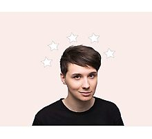 Dan Howell Star Halo - Baby Pink Photographic Print