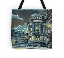 Opéra de Paris at Night Tote Bag