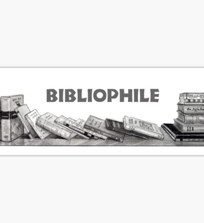Bibliophile: Books in Pencil: Book Lover, Drawing Sticker