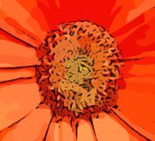 Orange Flower - Daisy Sticker