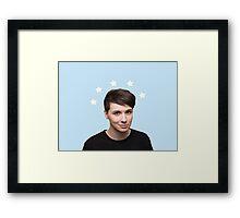 Dan Howell Star Halo - Baby Blue Framed Print