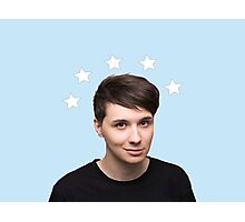 Dan Howell Star Halo - Baby Blue Photographic Print