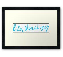 Leonardo da Vinci - Signature Framed Print