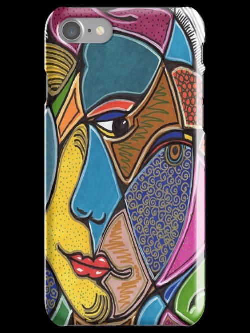 A Girl's Head Phone Case by Sarah Niebank