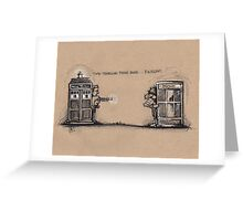 Time Traveling Phone Booth Greeting Card