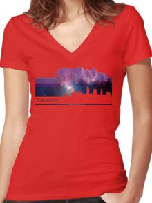 Cleveland Women's Fitted V-Neck T-Shirt