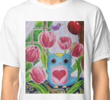 Owl in the Starry Garden Classic T-Shirt
