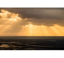Walney Turbines Photographic Print