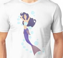 A Mermaid and her Bubbles Unisex T-Shirt