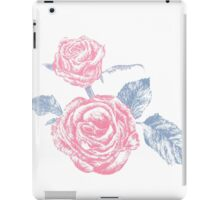 Rose colored ink sketch  iPad Case/Skin