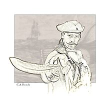 Pirate Captain Photographic Print