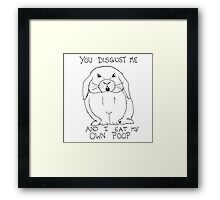 Animals Are Mean: Rabbit Framed Print