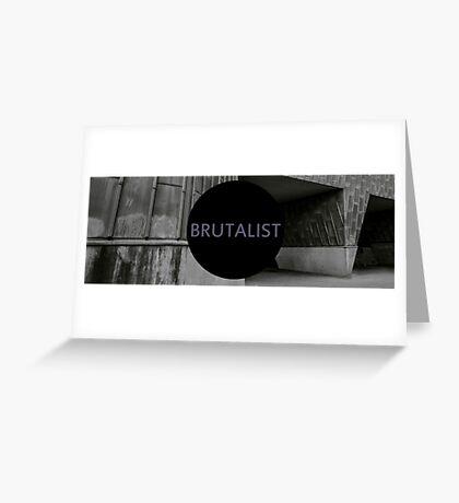 brutalist metal Greeting Card
