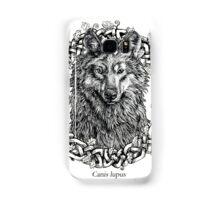 Canis Lupus - Gray Wolf - Black & White Version Samsung Galaxy Case/Skin