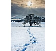 Lonely Footprints Photographic Print