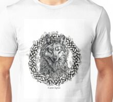 Canis Lupus - Gray Wolf - Black & White Version Unisex T-Shirt