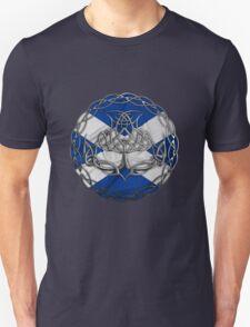 Chrome Celtic Knot Thistle Unisex T-Shirt