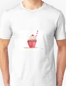 Cupcake watercolour painting Unisex T-Shirt